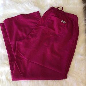 Grey's Anatomy Ladies Magenta Scrub Pants